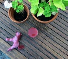 rabarbersaft saft rosa